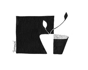 Graphic plant 01. Signed limited edition art print