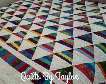 Rainbow Quilt,  Made To Order, King Quilt, Queen Quilt, Handmade Quilt, Rainbow Quilt,  Purple quilt, Pink Quilt, Rainbow Quilt