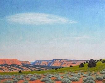 SALE ' Mesa Afternoon' - Utah - original landscape painting - plein-air - southwest art - western decor - turquoise - wall art