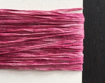Pink, Naturally Dyed Silk Yarn, 30ft.