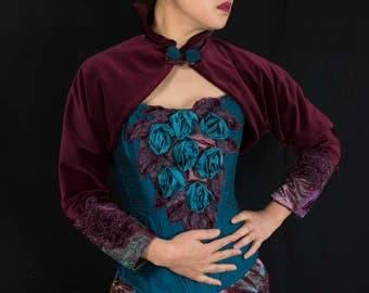 Corset style separates, unique bridal, special occasion, luxurious, sumptuous, Victorian, velvet, silk, lace, UK