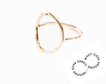 Karma Ring, Gold Karma Ring, Geometric Ring, Geometric Gold Ring, Gold Ring Large, Gold Large Ring, Karma Gold, Geometric Gold, Karma Ring