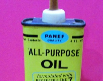 Vintage Panef Handy Oil 4oz Handy All-Purpose Oil Oiler Can