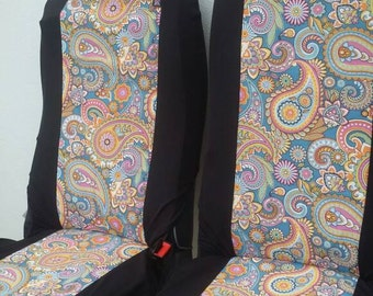 blue paisley fabric etsy. Black Bedroom Furniture Sets. Home Design Ideas