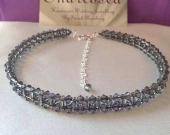 Black diamond Swarovski chocker
