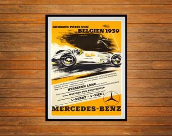 Reprint of the 1939 Belgium Grand Prix Poster