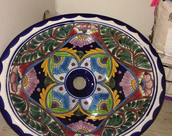Talavera Bathroom Sink - Free Shipping