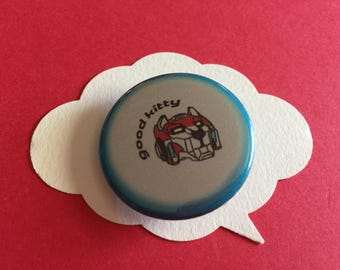 Voltron good kitty pin | legendary defenders red lion button