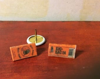 Zig Zag Orange Dollhouse Miniature Fancy Rolling Papers - Cigarette Papers - Paraphernalia Adult Collectible