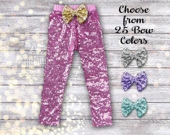 Pink Baby Pants Girl Pink Leggings Baby Girl Pants Pink Leggings Pink Sparkle Pants Pink Sequin Pants Girl Clothes Birthday Pants Newborn-6T