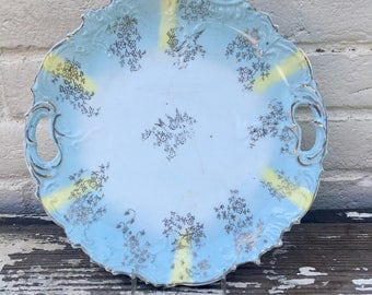 Blue and Yellow Plate