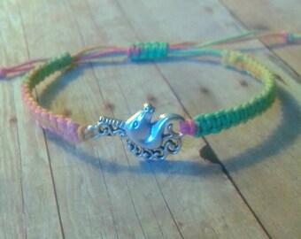 Unicorn Bracelet, Unicorn Jewelry, Hemp Jewelry, Hemp Bracelet, Adjustable Bracelet, Bohemian jewelry, bohemian bracelet