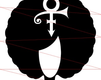 Prince Symbol In Afro Vinyl Decal - SVG Digital Download
