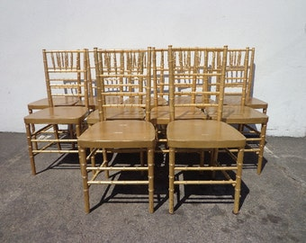2 Rattan Chairs Chinoiserie Chinese Chippendale By