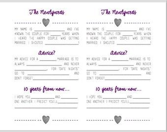 Wedding Madlibs Printable Digital Download Wedding Guestbook