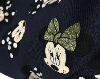 Pretty Sparkling bow Minnie soft Cotton 50*160 cm cotton knit 1/2 yard