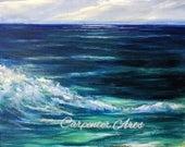 Ocean Wave Beach Seascape Original Painting
