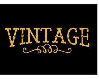 Vintage Decal, DIY Vintage Decal, Glass Lettering, Wall Lettering, Vintage Word Decal, Vintage Decor, Decor, Vintage Sign, Laptop Decal