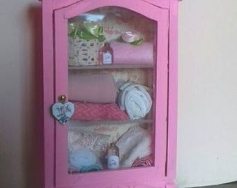 Dolls House miniature wood wardrobe 1:12
