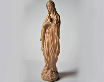 "Little antique statue, statuette, Virgin Mary,  Our Lady of Lourdes  6.30"""