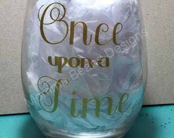 Once Upon a Time wineglass