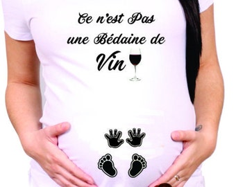 MATERNITY SHIRT not wine belly cm320 FRANCAIS