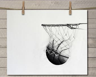 Basketball Decor - Basketball Art - Basketball Room Decor - Basketball Room Art - Kids Room Art