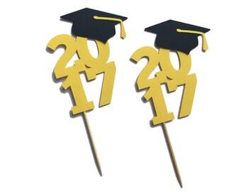 Graduation Cupcake Picks - Graduation Party Decor