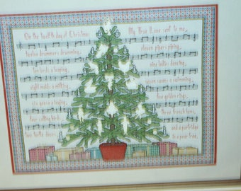 12 Days of Christmas Cross Stitch Kit by Needleform #918 sealed Vintage Kit 1991 Needlecraft kit
