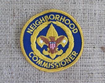 Boy Scouts Neighborhood Commissioner Patch, Vintage Boy Scouts Patch, Old Boy Scout Patches, Scouting Memorabilia, Boy Scouts Items