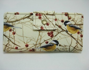 Womens Wallet, Handmade Ladies Wallet,  Bird Wallet
