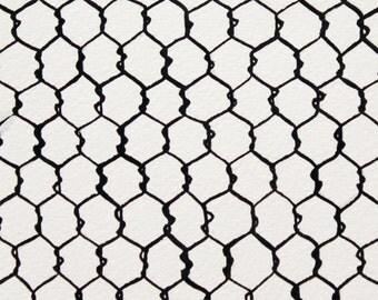 Alexander Henry - Chicken Wire - #8471A - Black