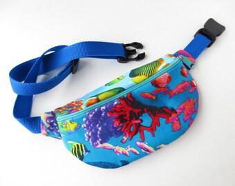 Ocean Print Fanny Pack