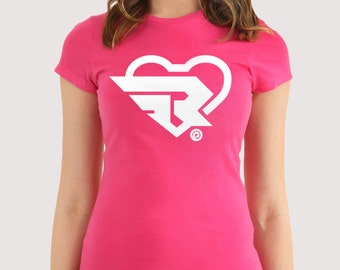 Ribbon Girl  Heart Symbol inspired t-shirt (two colors options)