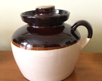 Vintage 1930's Large Robinson Ransbottom Earthenware Bean Pot