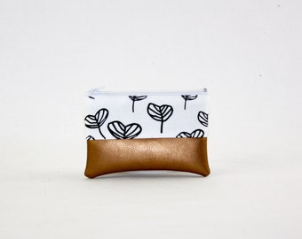 Mini bag - copper leaves