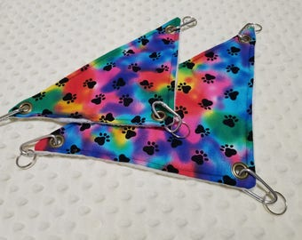 Rainbow Paw Print Corner Hammock