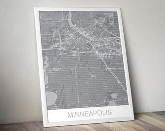 Minneapolis Map Art Print