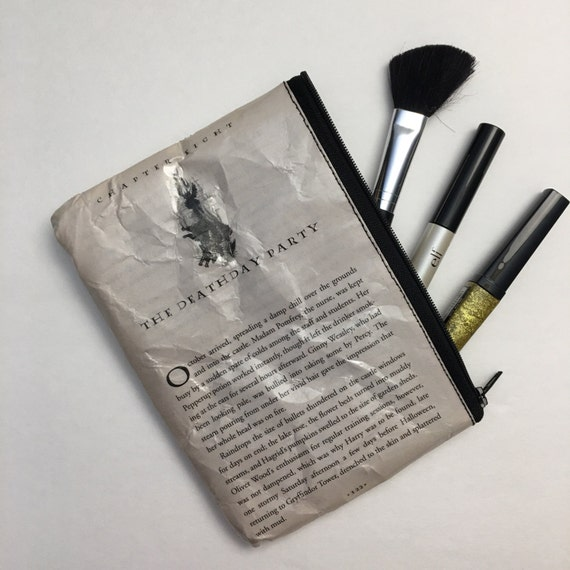 Harry Potter Book Themed Vinyl Pencil or Make-Up Pouch - The Deathday Party