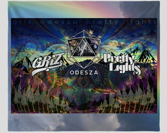 Griz, Odesza, & Pretty Lights Tapestry  - (Four Different Sizes Available)