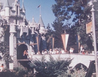 Original 1960 Disneyland Sleeping Beauty's Castle Anaheim California Color Snapshot Photo - Free Shipping