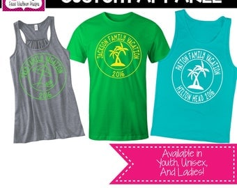 CUSTOM APPAREL: Custom Vacation T-Shirt/Tank Top