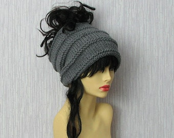ON Sale Knit Headband Tube Dreadlocks Grey Dreadlocks Accessories
