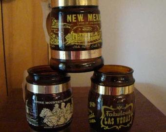 Vintage state glasses, Siesta Ware state mugs, New Mexico mug, Las Vegas mug, Georgia mug, Siesta Ware state mugs