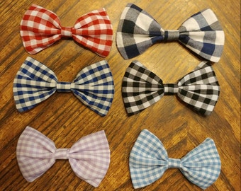Checkered Bow CUSTOMIZABLE [hair bow OR bow tie]