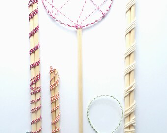 how to make bubble wands with string