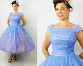 "1950s Prom Dress / 50s Prom Dress / 1950s Party Dress / 50s Party Dress / 50s Formal Dress / 1950s Formal Dress / Bridesmaid Dress / W 26"""
