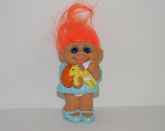 "Vintage 1992  M.T. Molded Sister Mother Mom Babysitter Troll Doll 3"""