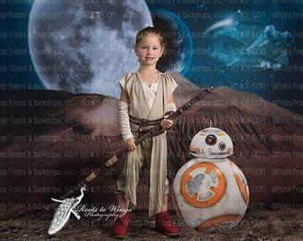 Star Wars Photography Backdrop, 60x80 Fleece, Space, Jedi, Empire, Menace, Clone, Sith, Ewok, Han Solo, Darth, Rogue, Luke Skywalker, Leia