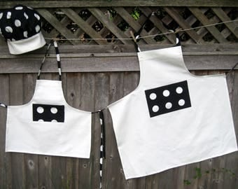 Matching Mother/ Daughter /Grandmother  Aprons and Chef Hat